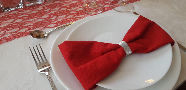 Thème Anniversaire 60 ans en rose et rouge